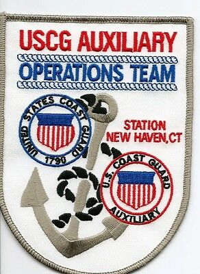 USCG United States Coast Guard Patch Auxiliary new haven, CT 5-1/2X4 in