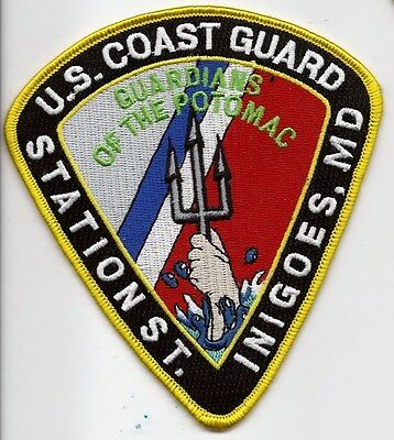 United Staters Coast Guard (USCG) patch Station St., Inigoes, MD. 5X4-1/2 pie