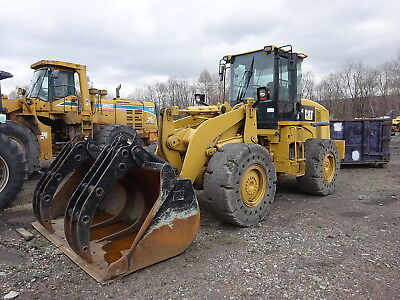 Caterpillar 938H Wheel Loader RUNS MINT! SOLID TIRES GRAPPLE BUCKET 938 DSL