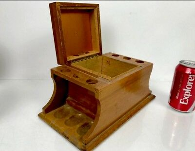 Vintage Mid-Century Alfred Dunhill Wooden Humidor Cigar Box Tobacco Pipe Stand