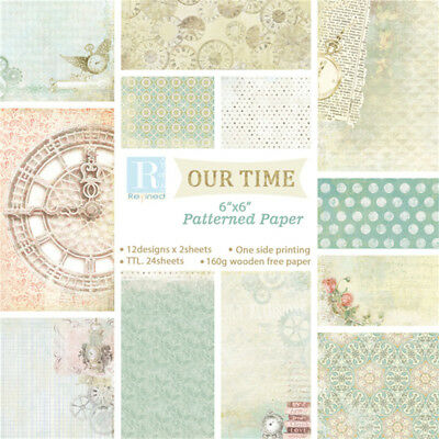 24pcs Scrapbook Paper Handmade Photo Background Paper Card Album Craft Wrap Gift
