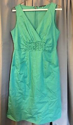 99b96ae82aba4 NWT ELIE TAHARI Embroidered Cotton Green Dress Size 6 MSR $448 ...
