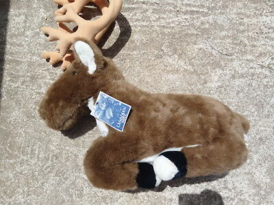 """NEW"" with tag Large Canadian Mist Mascot BULL CARIBOU Plush Promo/Logo Whiskey"