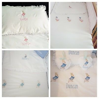 Peter rabbit, Mopsy or Jamima puddle duck bedding sets FREE PERSONALISATION