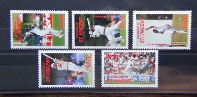 Grenadines of St Vincent 1988 Cricketers of 1988 International Season set MNH