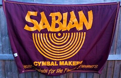 Sabian Cymbal Makers Finest Cymbals for the Finest Drummers Retail Wall Banner
