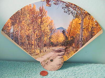 VTG Advertising Paper Fan, Daviess-Martin Co. REMC, U O Colson, Fall Scene 2