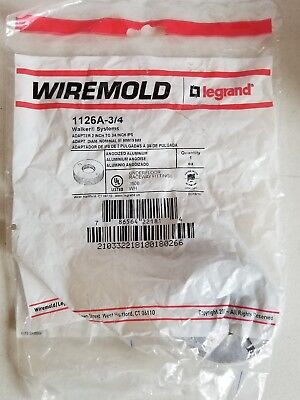 """Wiremold Legrand Walker Systems 1126A-3/4 Adapter 2"""" to 3/4"""" IPS, New in Bag"""
