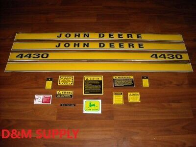 John Deere 4430 tractor decal set with caution decals jd419