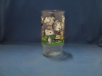 Rare 1965 United Feature Syndicate Schultz PEANUTS CHARACTERS Glass (D2-4)