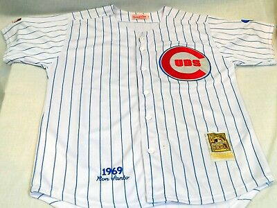 save off ec8c7 69831 RON SANTO CHICAGO Cubs Mitchell & Ness 100th Anniversary MLB 1969 Home  Jersey 48