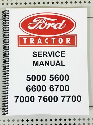 ford 5600 6600 6700 7600 7700 tractor service manual technical rh picclick com Chilton Repair Manuals Ford Ford Focus Haynes Repair Manual