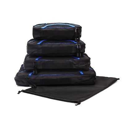 PACKING CUBES 5 set Luggage Organiser Travel Compression Suitcase Bags