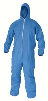 KLEENGUARD 45024 A60 ELASTIC CUFF, ANKLE, BACK HOOD COVERALLS BLUE XL NEW 18 ct.