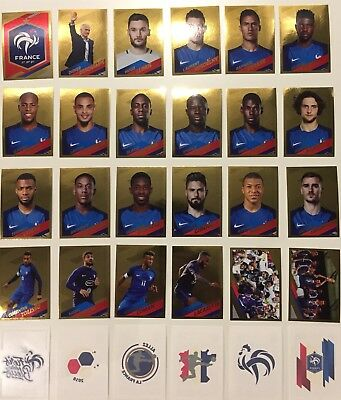 Rare Album Panini Fiers D'être Bleus Carrefour Complet Sticker Or France 2018