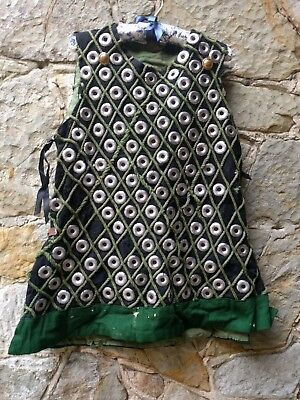 Vintage Chainmail Armoured Jerkin Battle Tunic Knight Medieval Fantasy Theatre M