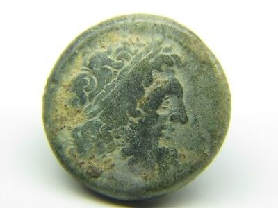 Ancient Greek Bronze Coin  Of King Ptolemy