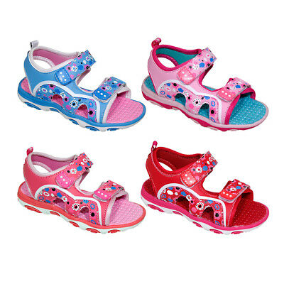GIRL'S FLOWERS PRINT DOUBLE STRAP SANDALS > (Lot of 36 Pairs)