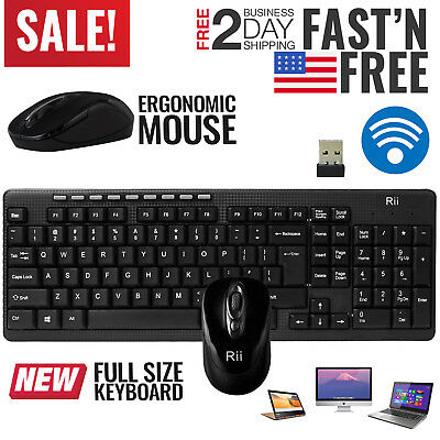 Wireless Keyboard and Mouse Combo Computer Desktop PC Laptop Cordless