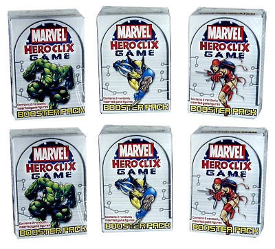 6x Marvel Heroclix Game Booster Packs Factory Sealed 2004 FREE SHIPPING