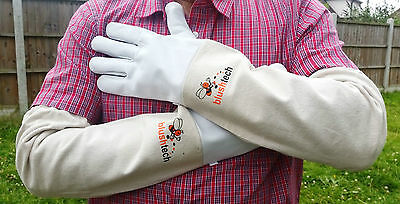 Beekeeping gloves Beekeeper protective Bee gloves 100% Leather & Cotton Zean