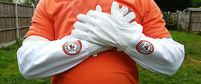 Beekeeper Bee Gloves Beekeeping gloves Leather & 100%Cotton Glove Pair Goat skin