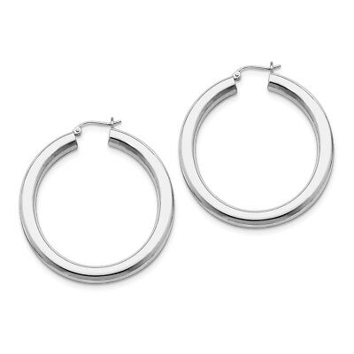 83d47e2786d8c WOMENS STERLING SILVER Sand Surface Large 51mm Round Circle Hoop ...