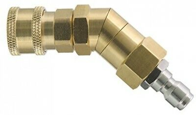 Tool Daily Quick Connecting Pivoting Coupler for Pressure Washer Nozzle, Hard