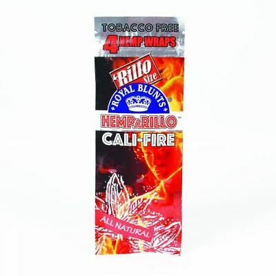 Royal Blunts Tobacco free 4 Pack  Cali Fire from 1 to 15 Packets
