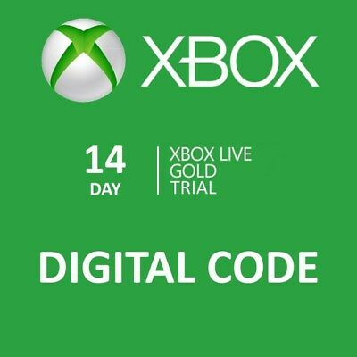 14 day Xbox One Live Gold Trial Membership Digital Codes Fast Email Delivery
