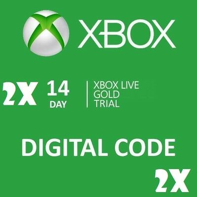 2(x) 14 day (28 days) Xbox One Live Gold Trial Digital Codes Fast Email Delivery