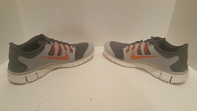 b867001791b3 NIKE FREE 5.0+ Dark Grey Orange Men s Running Shoes 579959-080 Size ...