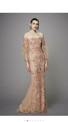 90972db1 MARCHESA COUTURE OFF The Shoulder Tulle Fishtail Gown M18803 ...