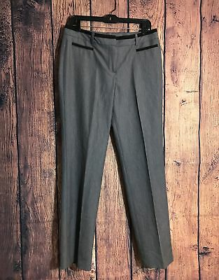 13af107e2b New Directions Women's Dress Pant Size 10 Solid Gray Career Casual Trouser