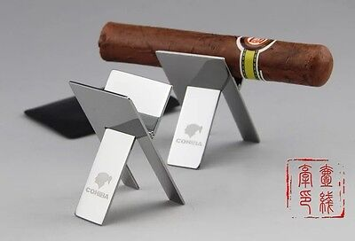Cohiba Stainless Steel Foldable Ashtray High Quality CigaretteCigar Stand Holder