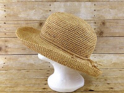 9fe26324 ORVIS STRAW HAT Mens Medium Rolled Brim Panama Style - $29.99 | PicClick