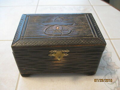 Vintage/antique Sankyo Japanese Wooden Music/jewelry Box Hand Carved