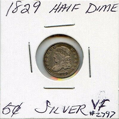 1829 H10C Capped Bust Silver Half Dime. Circulated. Lot #2575