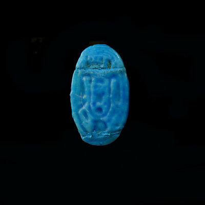 Egyptian faïence cartouche ring, 18th - 19th Dynasty 1549 to 1189 B.C., x9984