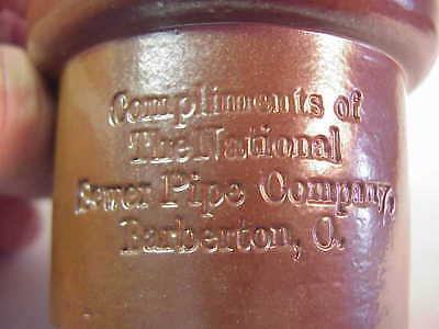 National Sewer Pipe Company - Barberton Ohio - Novelty Stoneware Jug