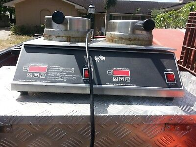 STAR MODEL# B7R2E 2 WAFFLE IRONS(Stainless Steerl,110vac/120vac,Made in AMERICA)
