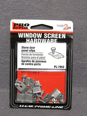 STORM DOOR PANEL CLIPS #PL-7953 Prime-Line Pro Repair Package of 8 Clips  screen