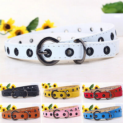 New Waistband Pu Baby Leather Infant Buckle Kids Girls Multi-color Belt Candy