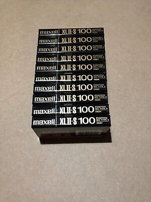 Set of 10 New Sealed Maxell XLII-S 100 Cassette Tape Made in England