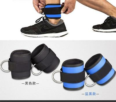 D-ring Ankle Strap Buckle Body Building Resistance Band Gym Leg Ankle Cuffs Hot.