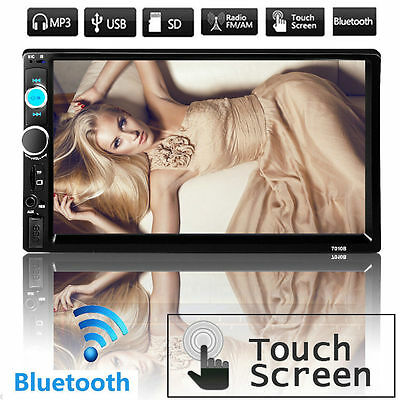 7'' HD Bluetooth Touch Screen Car Stereo Radio 2DIN FM/MP5/USB/AUX Player NO DVD
