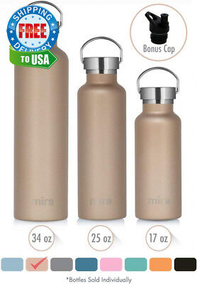 MIRA Stainless Steel Vacuum Insulated Water Bottle | Thermos Flask Keeps...