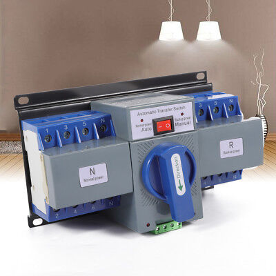 4P 110V 63A Dual Power Automatic Transfer Switch For Generator Mini ATS CB level