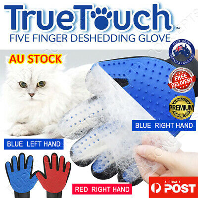 True Touch Brush Glove Pet Dog Cat Massage Grooming Wash Hair Removal Left Right