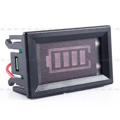 12V Lead-acid Battery Power Indicator Meter Capacity Voltage LED Display Panel B